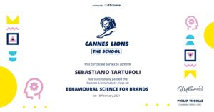 Behavioural Science for Brands Certificate (landscape)